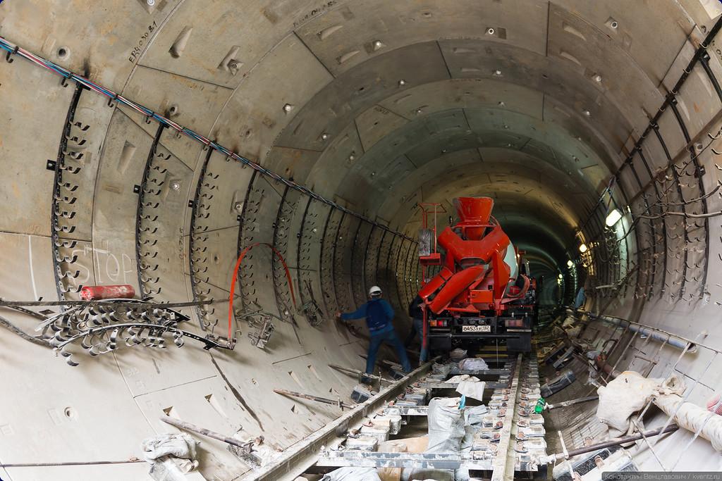 Будущий 2-й путь (левый перегонный тоннель)
