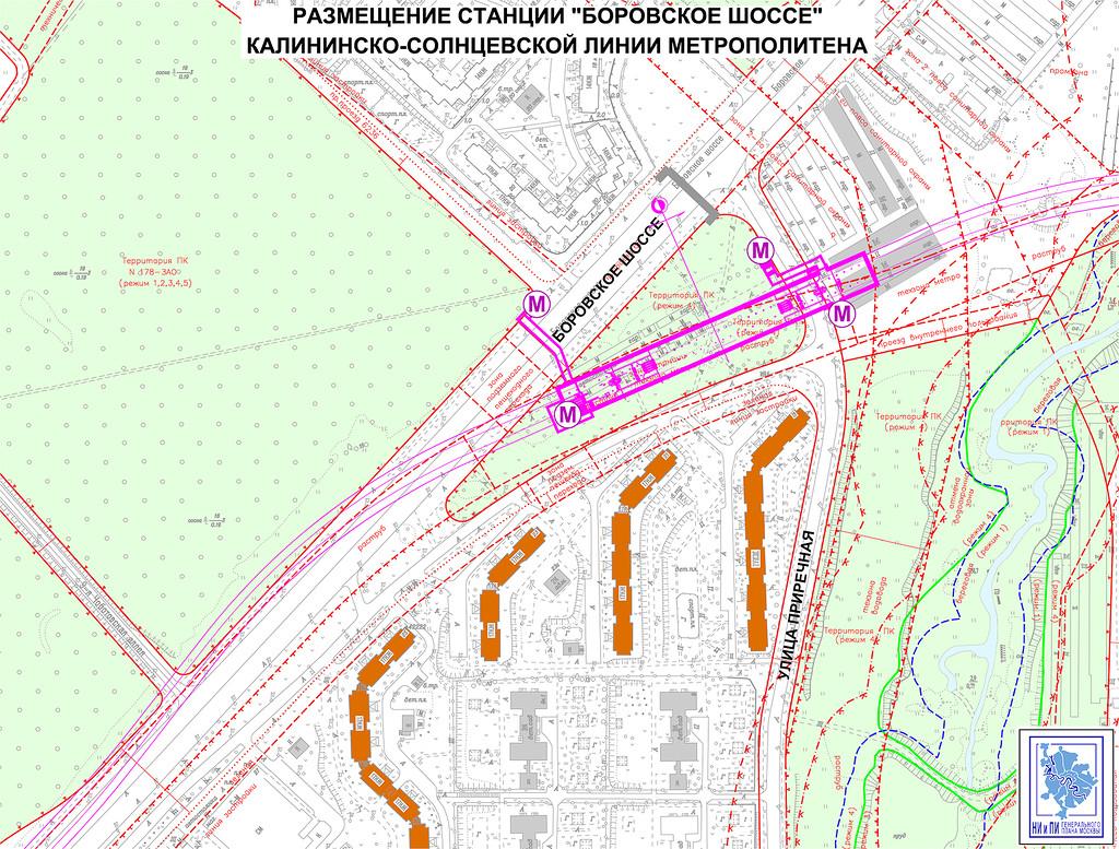Размещение станции «Боровское шоссе»