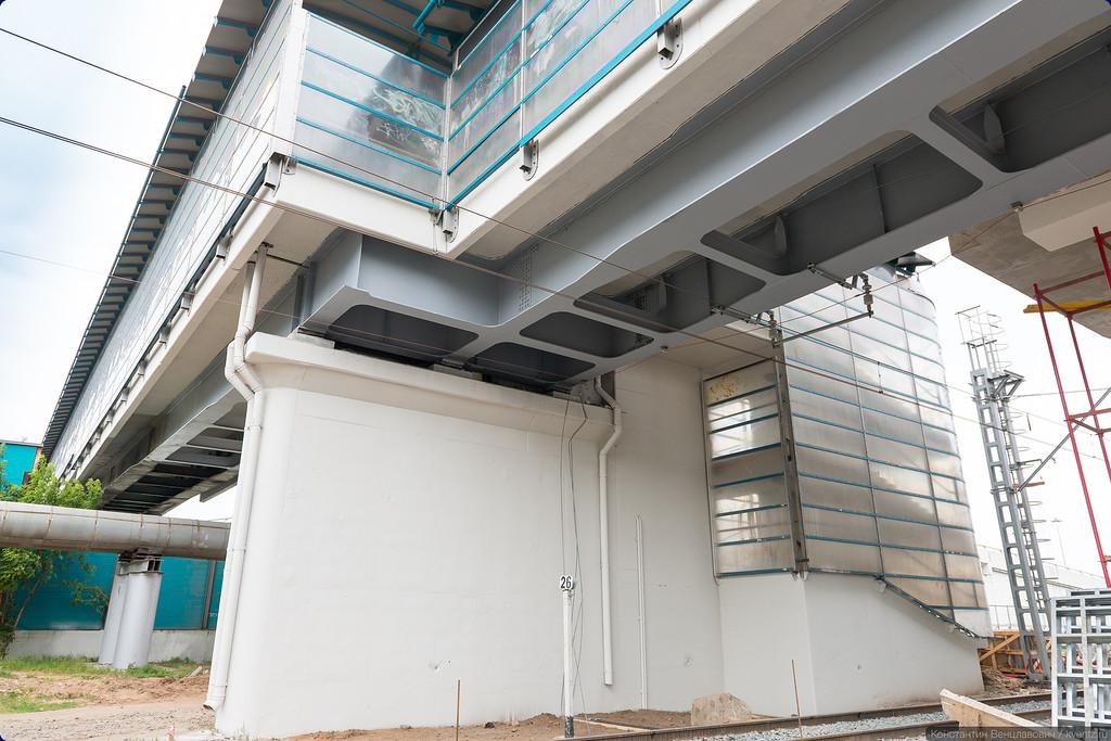 Вестибюль станции будет выходить в уже имеющийся пешеходный мост через ТТК