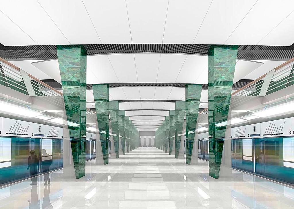В будущем это будет выглядеть примерно так, только без платформенных дверей