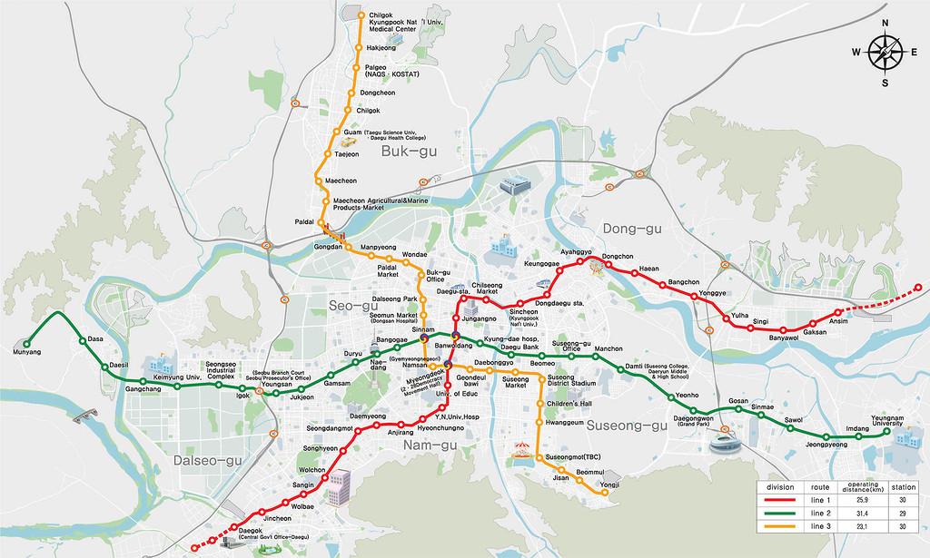 Схема метро Тэгу