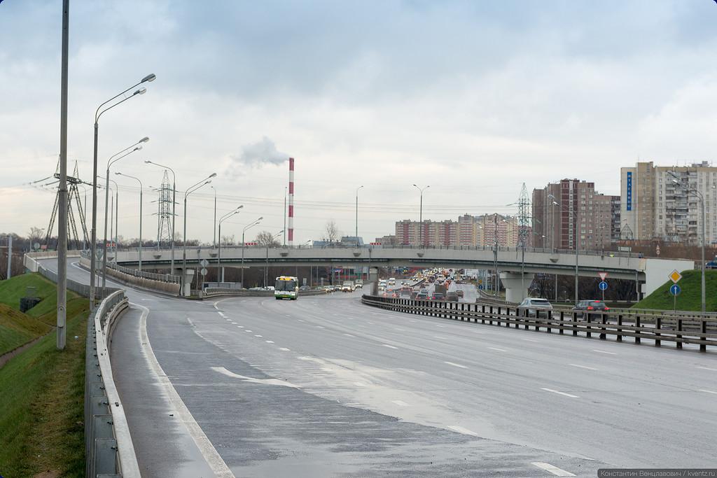 Реконструкция развязки началась 5 января 2015 года