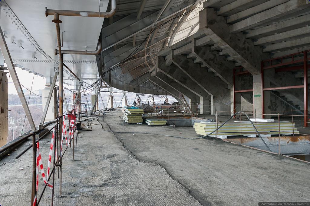 Пожалуй, самая большая крытая смотровая площадка в Москве, а то и в мире