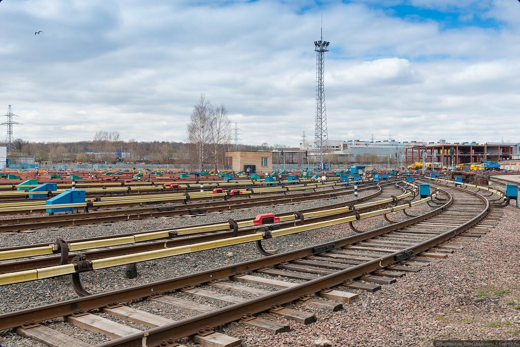 Парковые пути электродепо Владыкино (ТЧ-14)