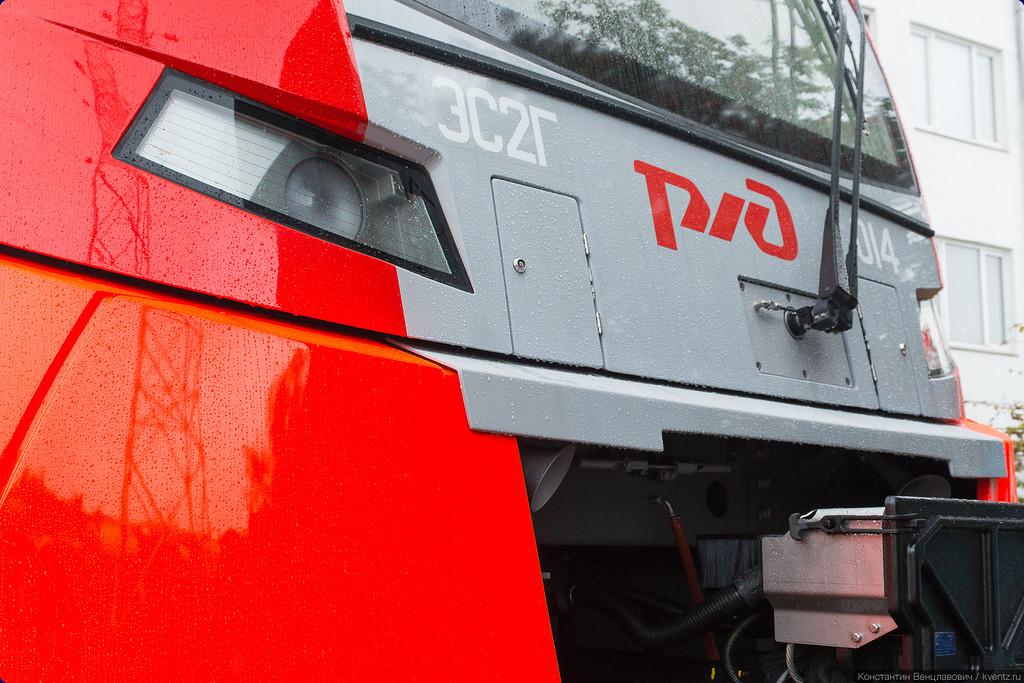 «Уральские локомотивы» представили на EXPO 1520 электропоезд ЭС2Г «Ласточка»