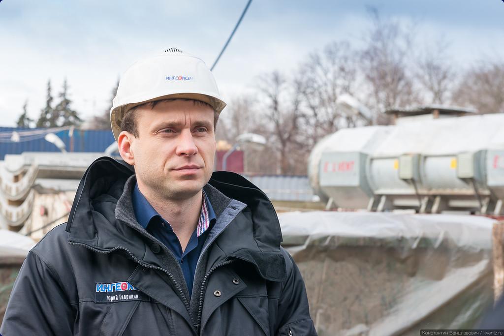 Заместитель генерального директора по строительству метрополитена АО «Объединение «ИНГЕОКОМ» Юрий Гаврилин