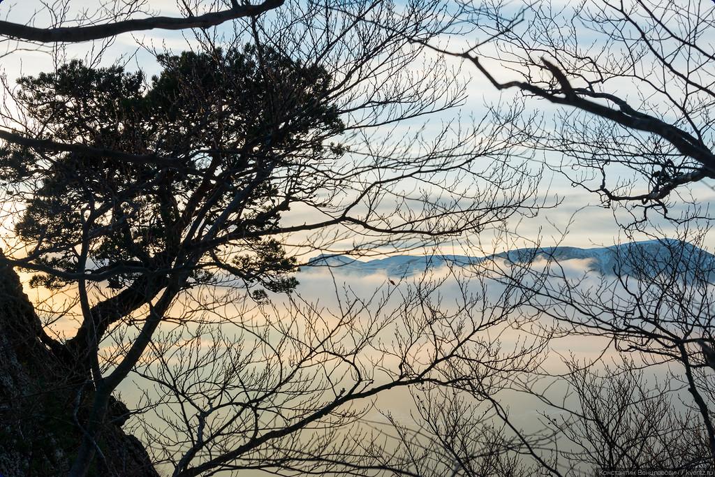 Закат на Демерджи. Алушта, Крым