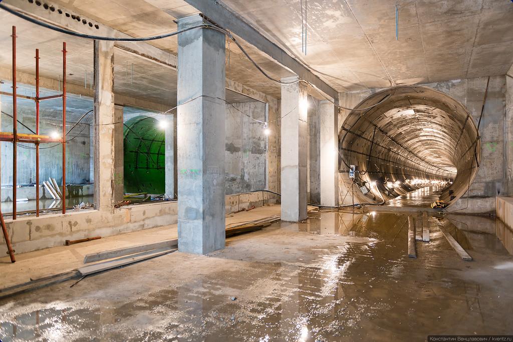 От Москвы (со стороны станции «Солнцево)» оба тоннеля уже пройдены