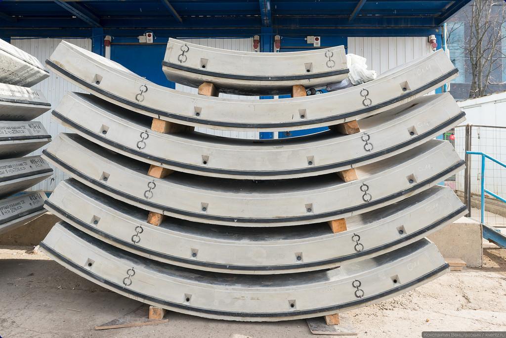 Высокоточные блоки железобетонной обделки тоннеля