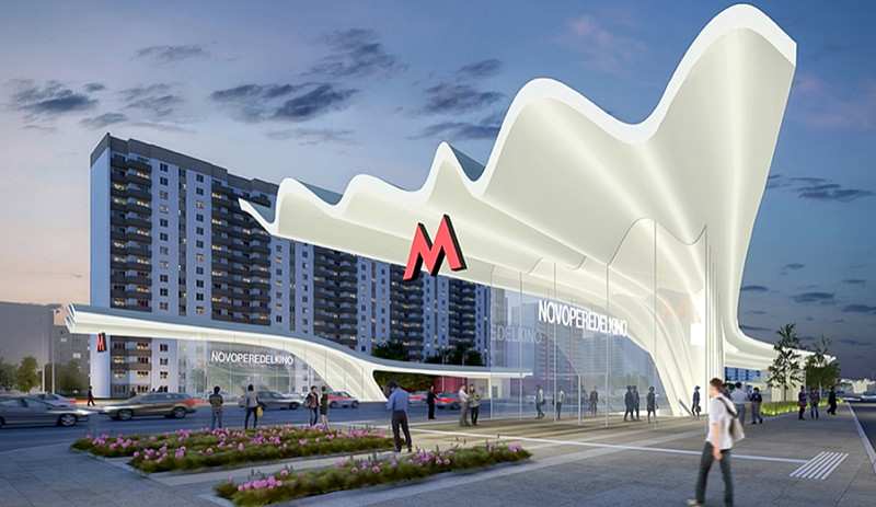 Один из конкурсных проектов станции Новопеределкино