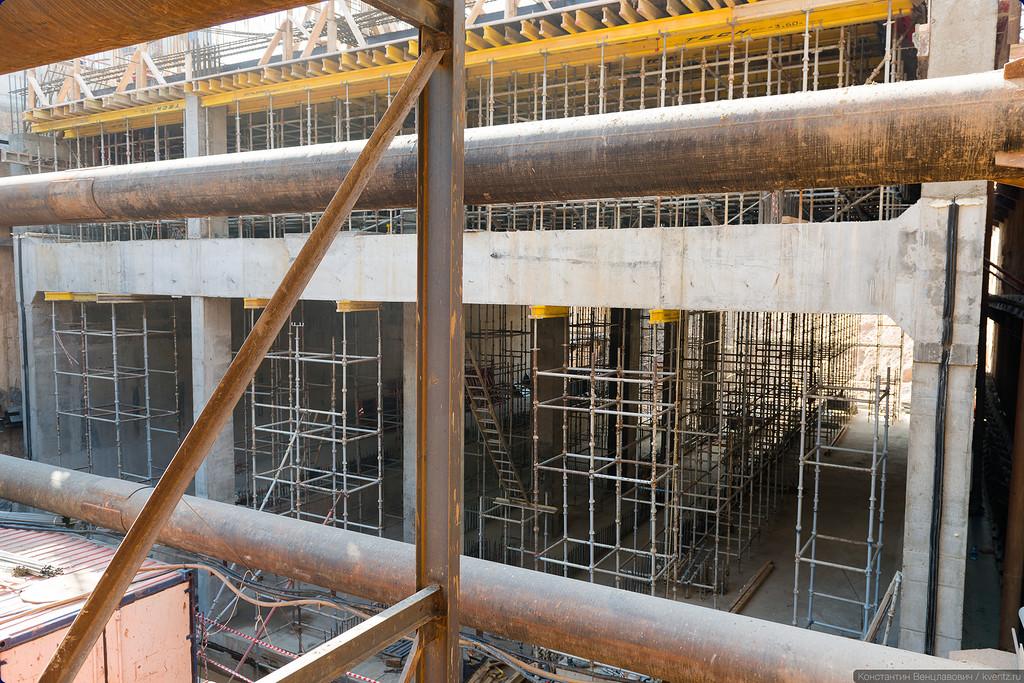 Уже видны контуры будущей станции